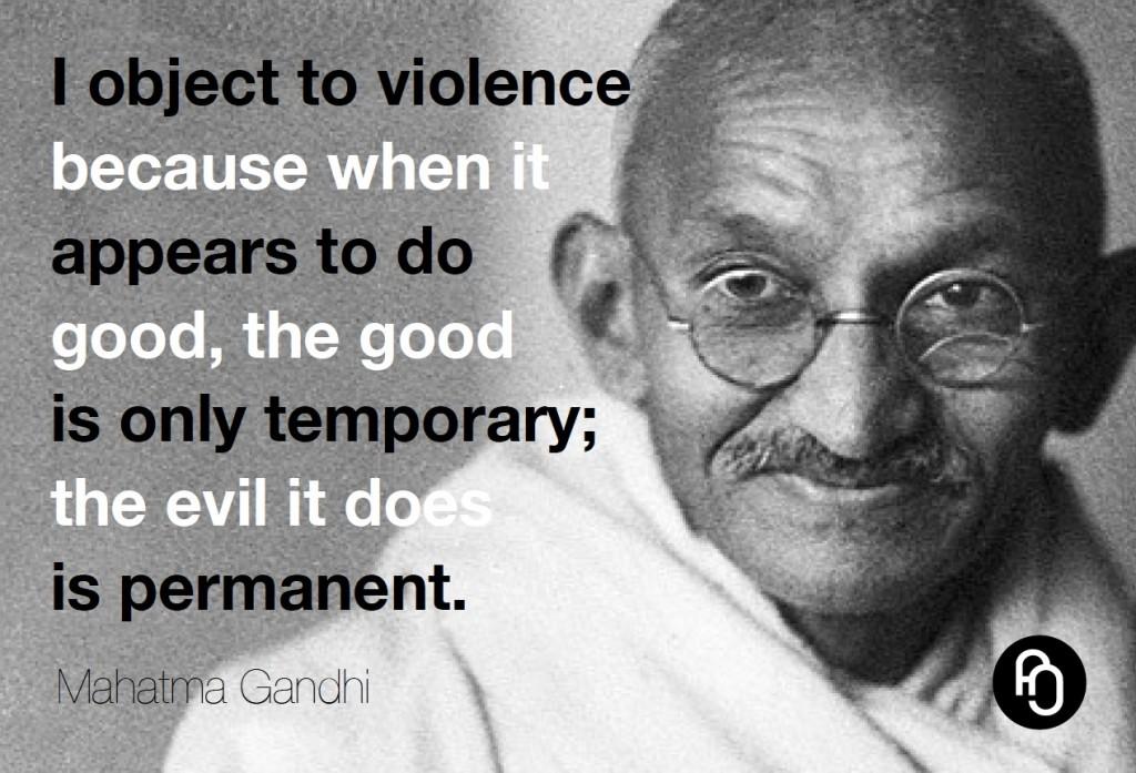 I object to violence