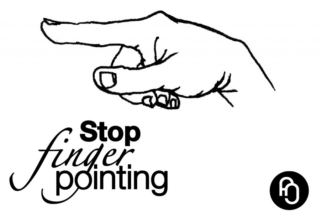 Stop finger pointing