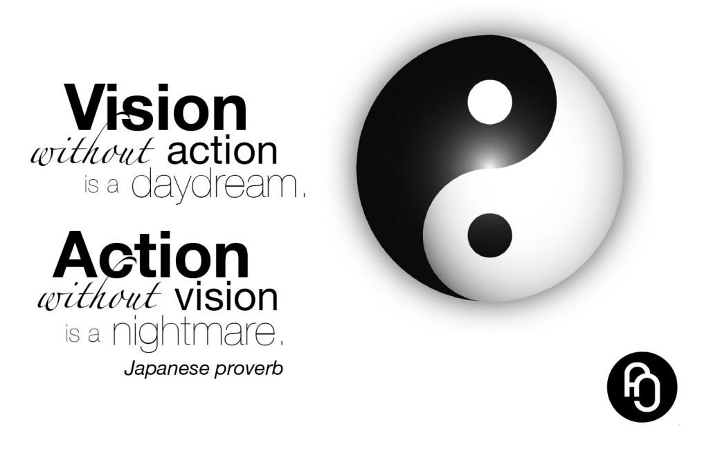 action vision, yin yang